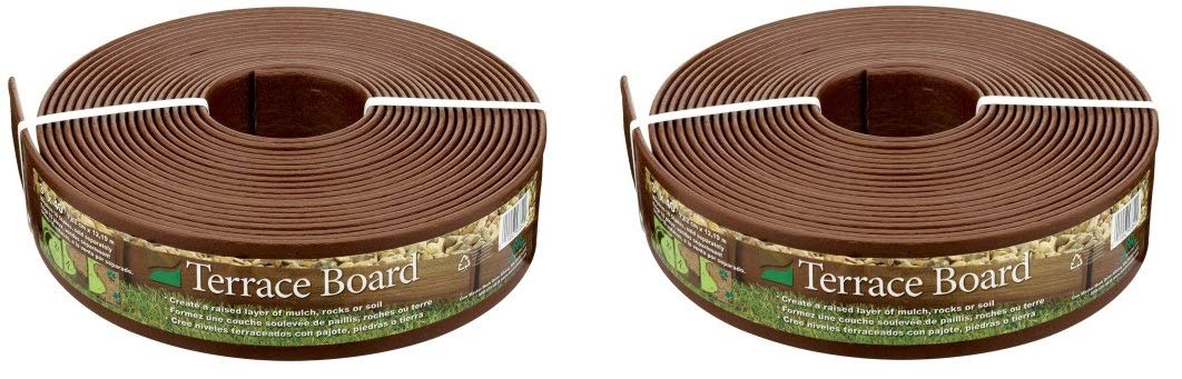 Master Mark Plastics 93340 Terrace Board Landscape Edging Coil 3 Inch by 40 Foot, Brown (Pack of 2)