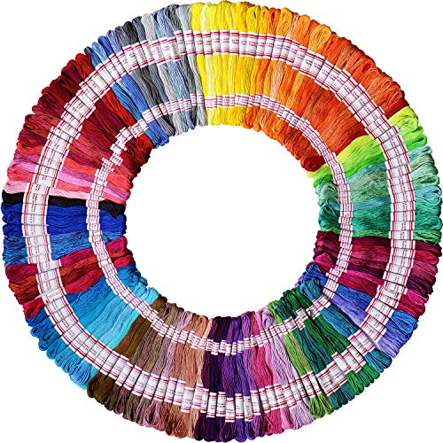 Cotton Bracelet Thread - Embroidery Floss 240 skeins 1920M 100% Egyptian long-staple cotton pull strong bright light the only one DMC 8M/pc 24pcs/bag 10package Cross Stitch Threads Friendship Bracelets Floss