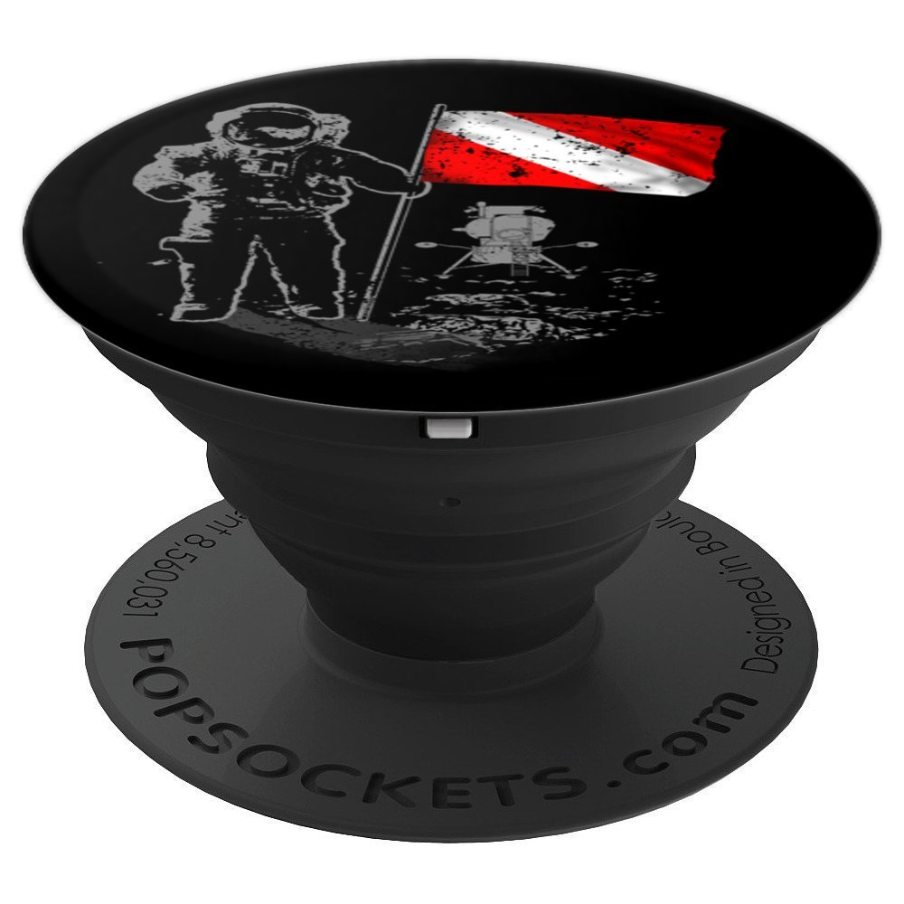 Solar System Dive Flag Space Exploration - PopSockets Grip and Stand for Phones and Tablets