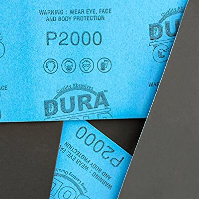Dura-Gold - Premium - Wet or Dry - 2000 Grit - Professional Cut to 5-1/2
