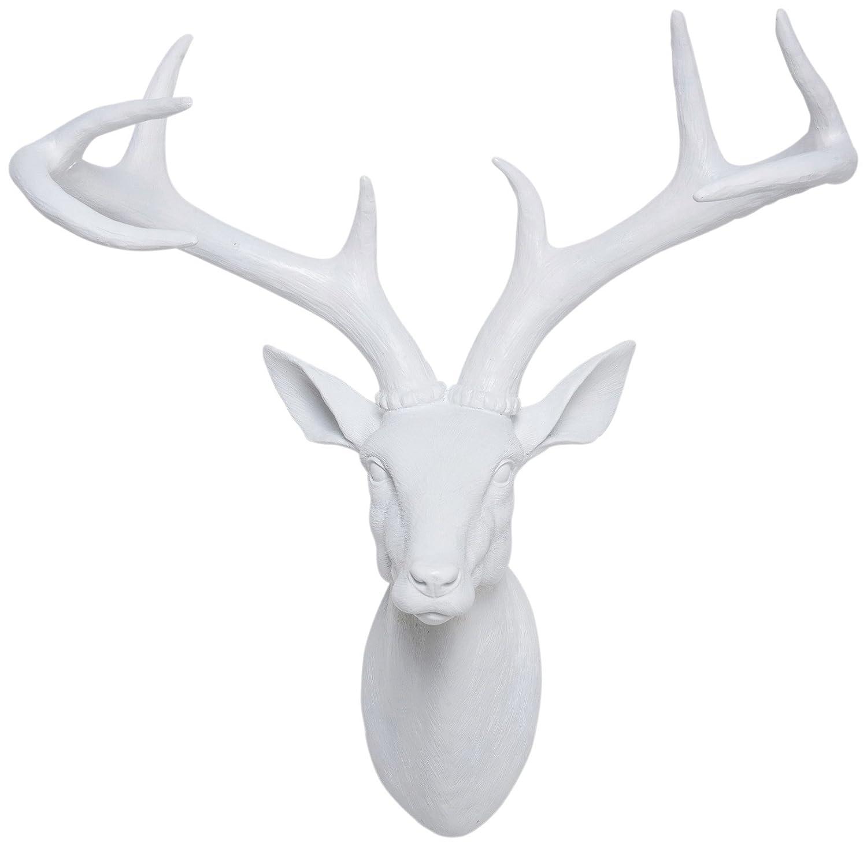 head outdoor cor wall esschert com d stag dp deer design amazon garden sculptures decor