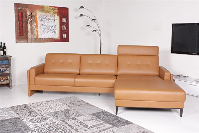 Rolf Benz Sofa Pronto Ecksofa Mit Funktion Leder Cognac Amazon De Kuche Haushalt Wohnen