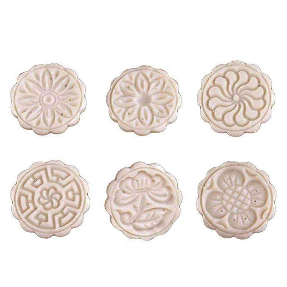 Cookie Mold,JDgoods 6PC Mooncake Mold Flower Mid-autumn Festival Hand Press Moon Cake Cutter Molds Set