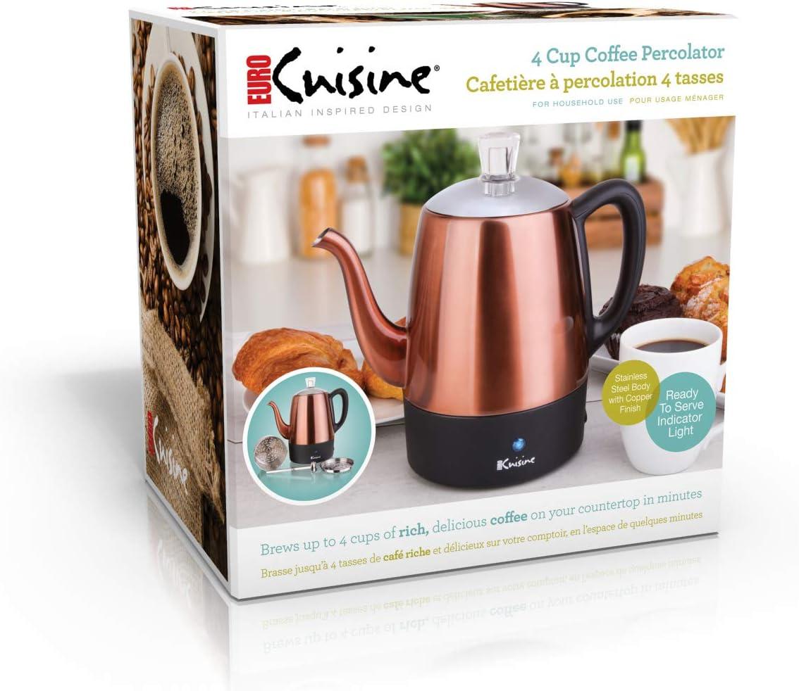 Amazon.com: Euro Cuisine PER08 - Cafetera eléctrica (8 tazas ...