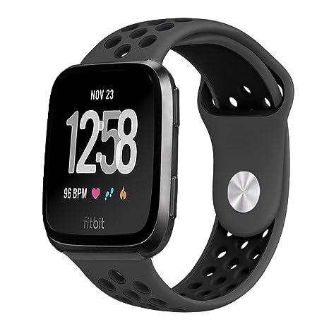 BarRan reg; Fitbit Versa Correa, Soft Silicona Estilo Deportivo Reemplazo para Fitbit Versa Smartwatch
