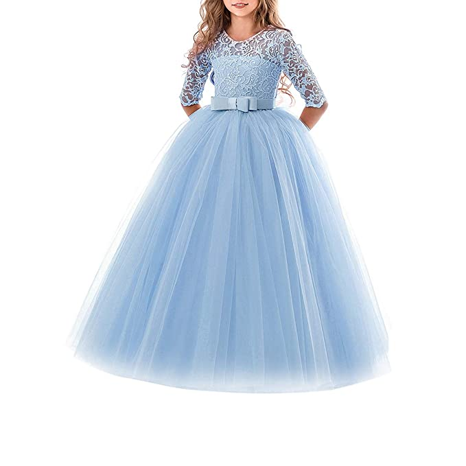 d3788d3c67d0 Zhhlaixing Natale Halloween Stile Principessa Abiti da Festa per Ragazze  5-13 Anni - Nozze