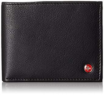 Alpine Swiss Men's Genuine Leather Wallet Slim Flip-out Bifold Black