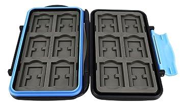 Flashwoife Turtle-MSD24 Estuche para tarjetas de memoria espacio suficiente para hasta 24 tarjetas microSD memory card storage box