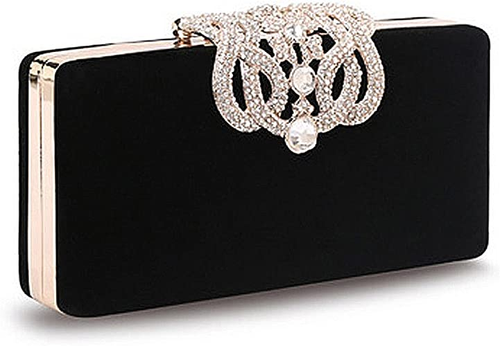 Ladies Beaded Crystal Clutch Bag Women/'s Purses Wedding Evening Prom Party