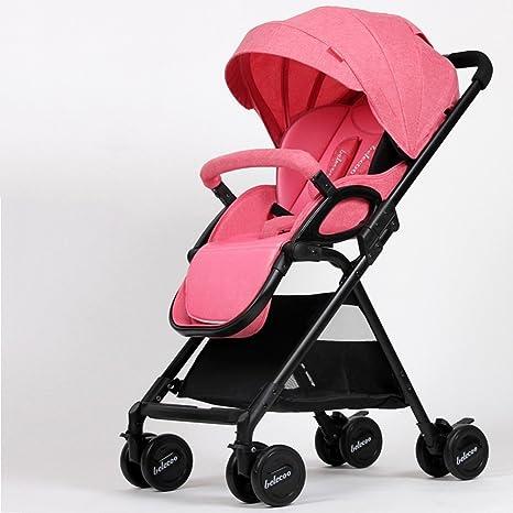 Yuan Sillas de paseo El cochecito de bebé puede ser sentado ...