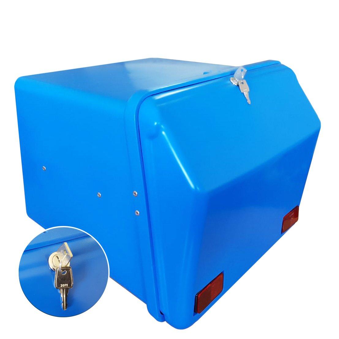 Cierre Cerradura Portaequipajes Moto ba/úl Reparto Azul//Azul con Bandeja y Reflectantes homologados