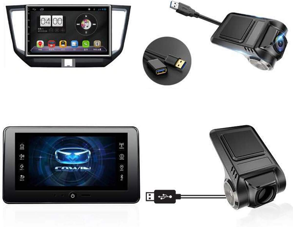 ROSEBEAR fhd 720p auto nascosta dvr 2mp 170 fotocamera grandangolare dash cam videoregistratore adas wifi loop registrazione sensore g incorporato con cavo usb visione notturna guida sicura