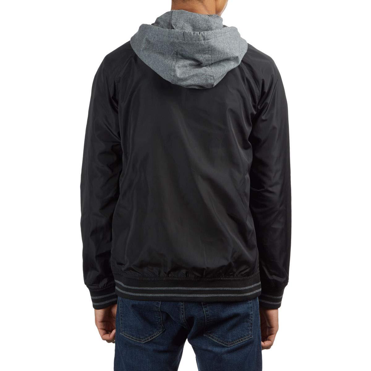 20b06c268 Primitive Lightweight Twofer Varsity Jacket - Black at Amazon Men's Clothing  store: