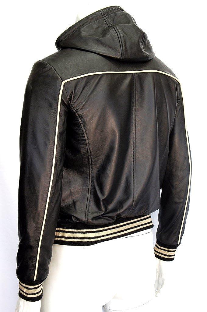 Fraser Mens Slim Fit Red Hooded Fashion Napa Italian Designer Leather Jacket Woodlandhideawaypark Co Uk