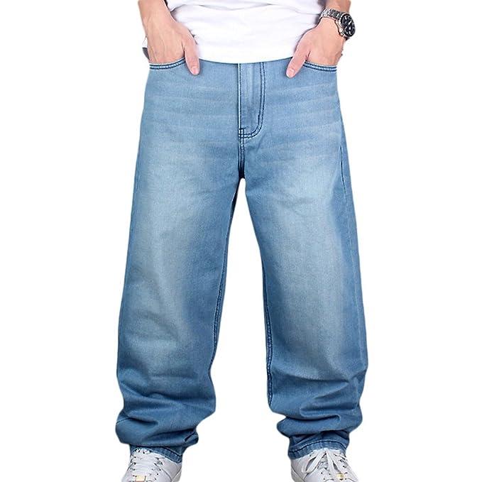 Dexinx Niños Hombres de Pantalones Vaqueros Sólido Simple de ...