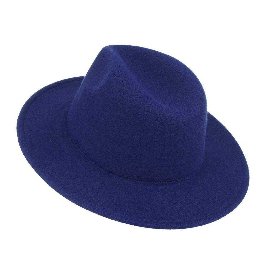 La Vogue-Cappello in Feltro Uomo Berretto Jazz PIatto Caldo Fedora Trilby Semplice Invernale