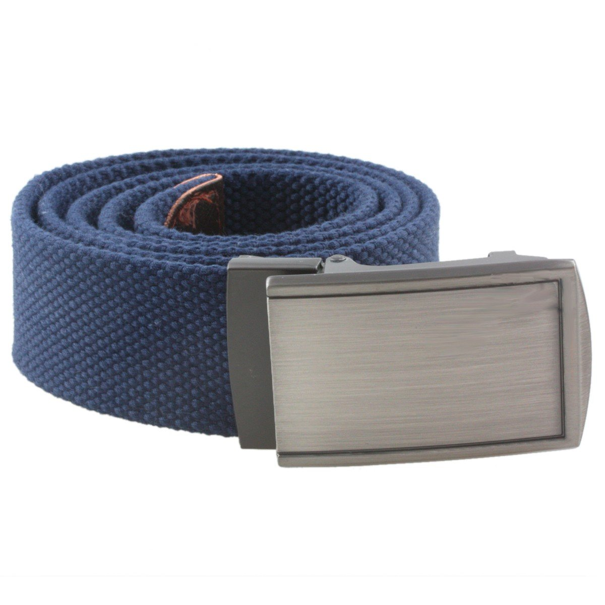 Solid Color Military Style Casual Belts with Automatic Buckle Sportmusies Canvas Web Belts for Men