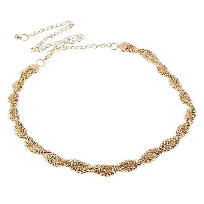 827a4e8bc56185 Baoblaze Damen Kette Gürtel Gold Taillengürtel Hüftgürtel Kettengürtel  Kleidgürtel Kleid Dekoration