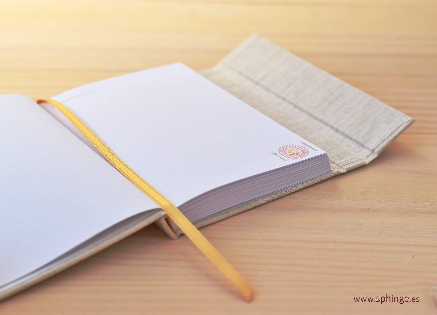 Cuaderno de recetas para escribir, recetario en blanco ...