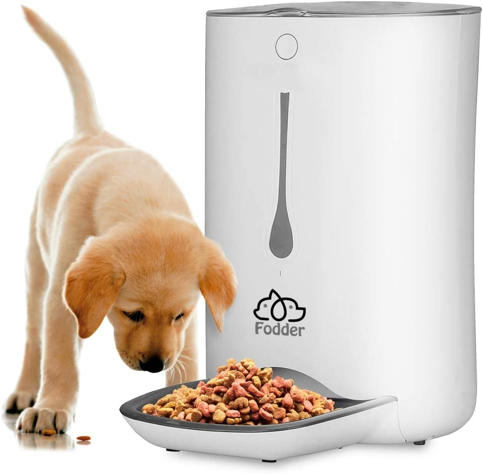 SereneLife Automatic Pet Feeder - Electronic Dogs and Cat Food Dispenser –Programmable Features forPortion and Weight Control and Meal Scheduling – Built-In Voice Recorder and Player