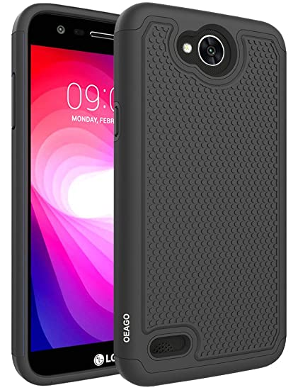 detailing b912d 2ddc9 LG X Charge Case, LG Fiesta LTE Case, LG X Power 2 (2017) Case, OEAGO  [Shockproof] [Impact Protection] Hybrid Dual Layer Defender Protective Case  ...