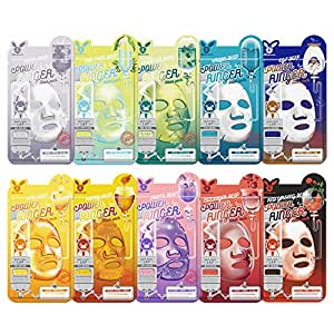 Elizavecca deep-power Ringer 10type mask packs (30Sheets / High adhesion cellulose sheet)