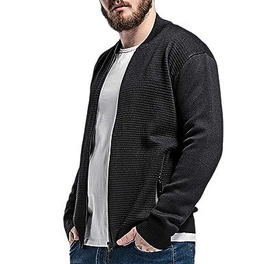 Suéter De Cardigans De Los Hombres De Punto Cardigan De Punto Que Cubre Conveniente Para Los