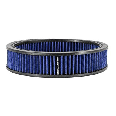 Spectre Performance 48056 Round Replacement Air Filter Element - Blue, 9 inch by 2 inch: Automotive