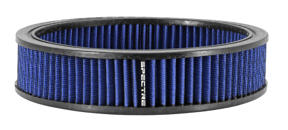 Spectre Performance 48056 Round Replacement Air Filter Element - Blue, 9 inch by 2 inch