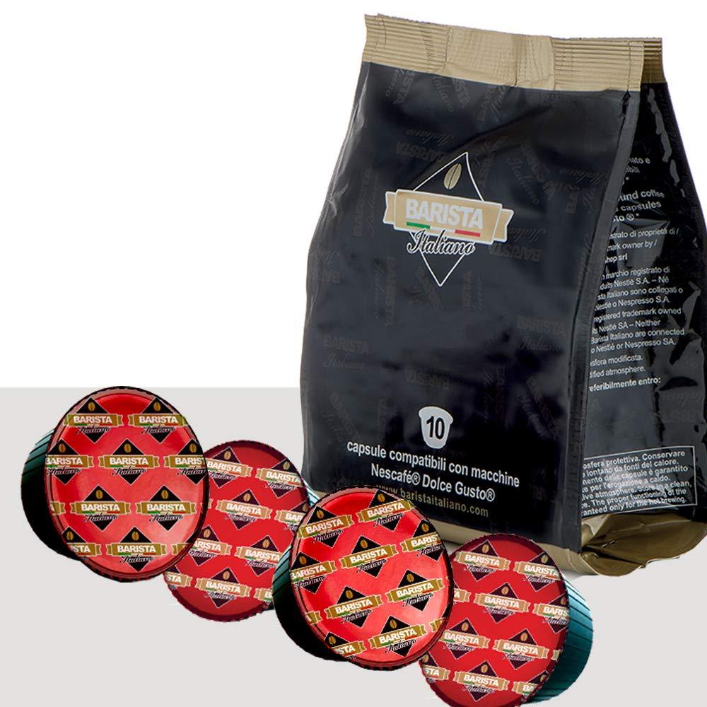 Barista Italiano 80 Dolce Gusto Cápsulas Compatibles (INTENSO NAPOLETANO, 80 Cápsulas, 80 Porciónes)