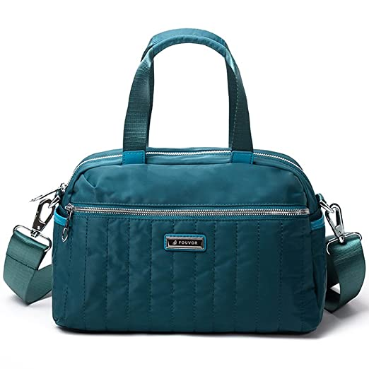 2e2c31a12e37 Amazon.com: Fouvor Women's Satchel Bag Nylon Waterproof Shoulder ...
