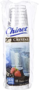 Chinet Cut Crystal Cup - 14 oz - 18 ct