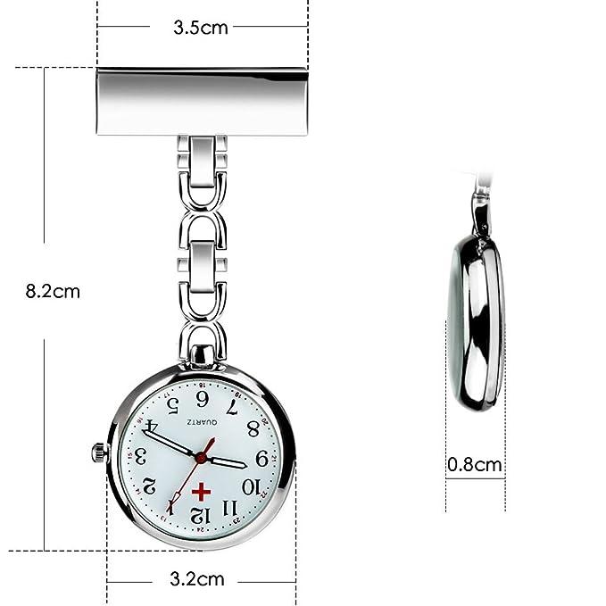 Amazon.com: WIOR Reloj de bolsillo para enfermera, con ...
