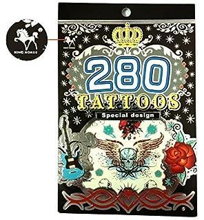 b9008fe07 Amazon.com: Rock Star Temporary Tattoos Party Favor Set (58 Rocker ...