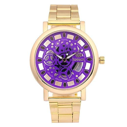 Souarts - Reloj de pulsera de cuarzo hueco para mujer con esfera grande de 23 cm: Amazon.es: Relojes