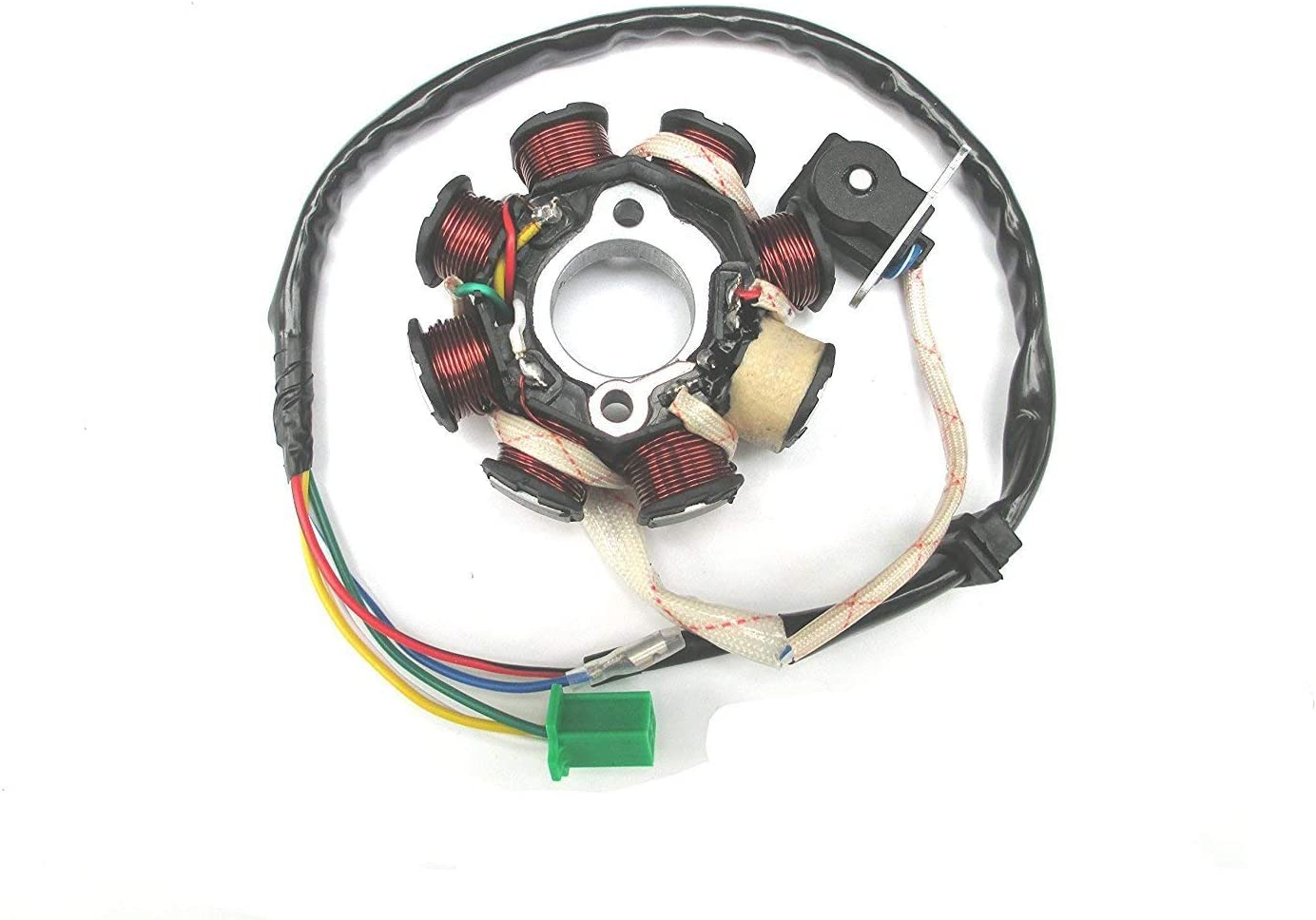 GY6 50CC 60CC 80CC 125cc 150cc Magneto Stator Ignition Coil 8 Pole 5 Wires replacement for Scooter Moped Go Kart ATV TAOTAO Paliden 150cc scooter