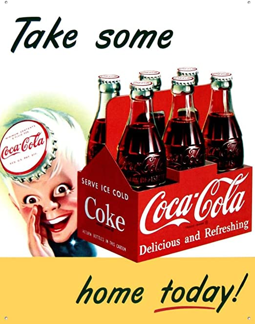 Amazon.com: Coca Cola Sprite Boy Tin Sign 13 x 16 en: Home ...