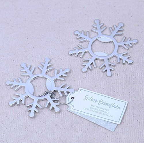 100pcs Silver Snowflake Bottle Opener For Wedding Party Favor by cute rabbit