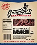 Low Carb Beef Jerky Snacks: 3 Pack of Blueberry Habanero Meat Strips – Grandpa's Beef Jerky Review