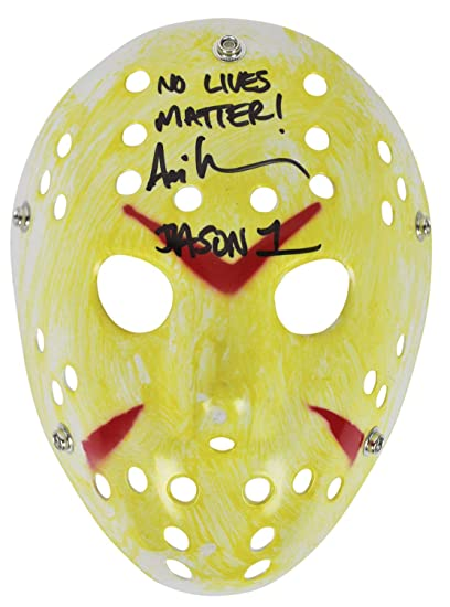 Ari Lehman Friday The 13Th No Lives Matter Autographed Signed Yellow Jason  Mask Bas at Amazon s Sports Collectibles Store 8a15fee0d6efc