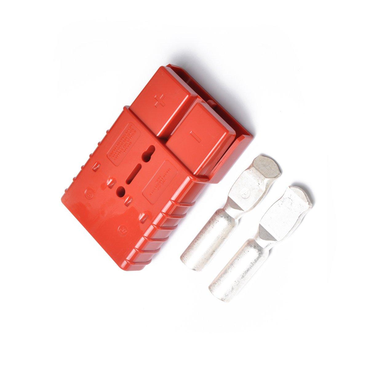 WINOMO 350A 600V Premium Anderson Style Plug Exterior Connector for Winch Trailer red
