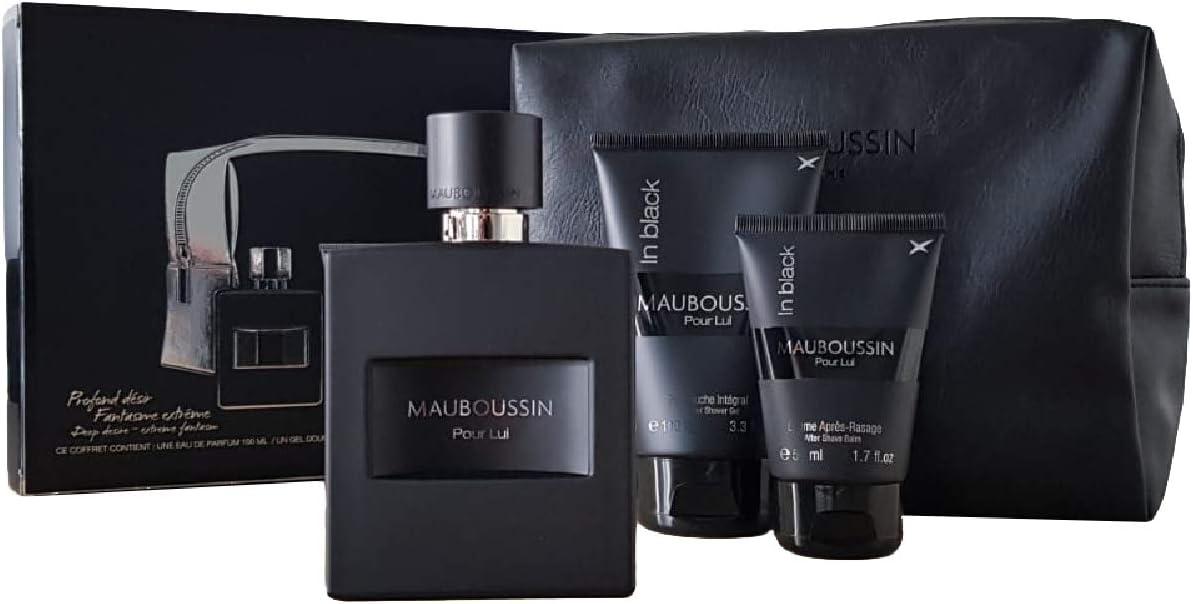 Mauboussin - Estuche para él In Black EDP de 100 ml, gel de ducha de 100 ml, espuma, 50 ml para hombres: Amazon.es: Belleza