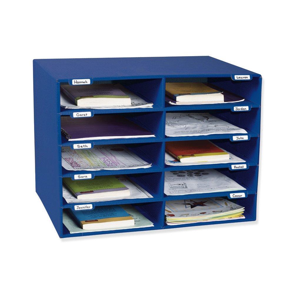 Classroom Keepers 10-Slot Mailbox, Blue (001309)