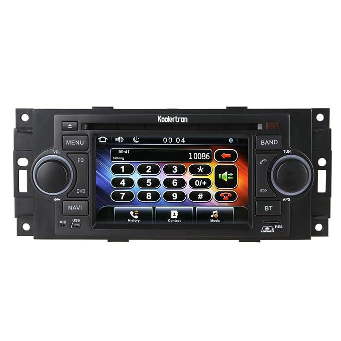 Koolertron For Mitsubishi Raider and Chrysler Dodge Series Indash DVD Player GPS Sat Nav Navigation System With 5.0