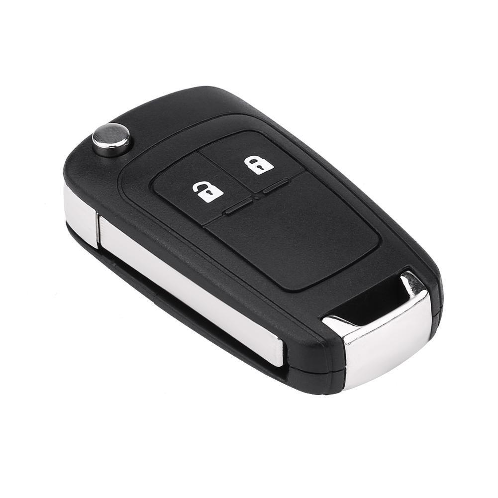 2-Button Car Key Fob Remote Foldable Flip Control Car Key With 433Mhz ID46 Chip for J Corsa E Insignia 5WK50079