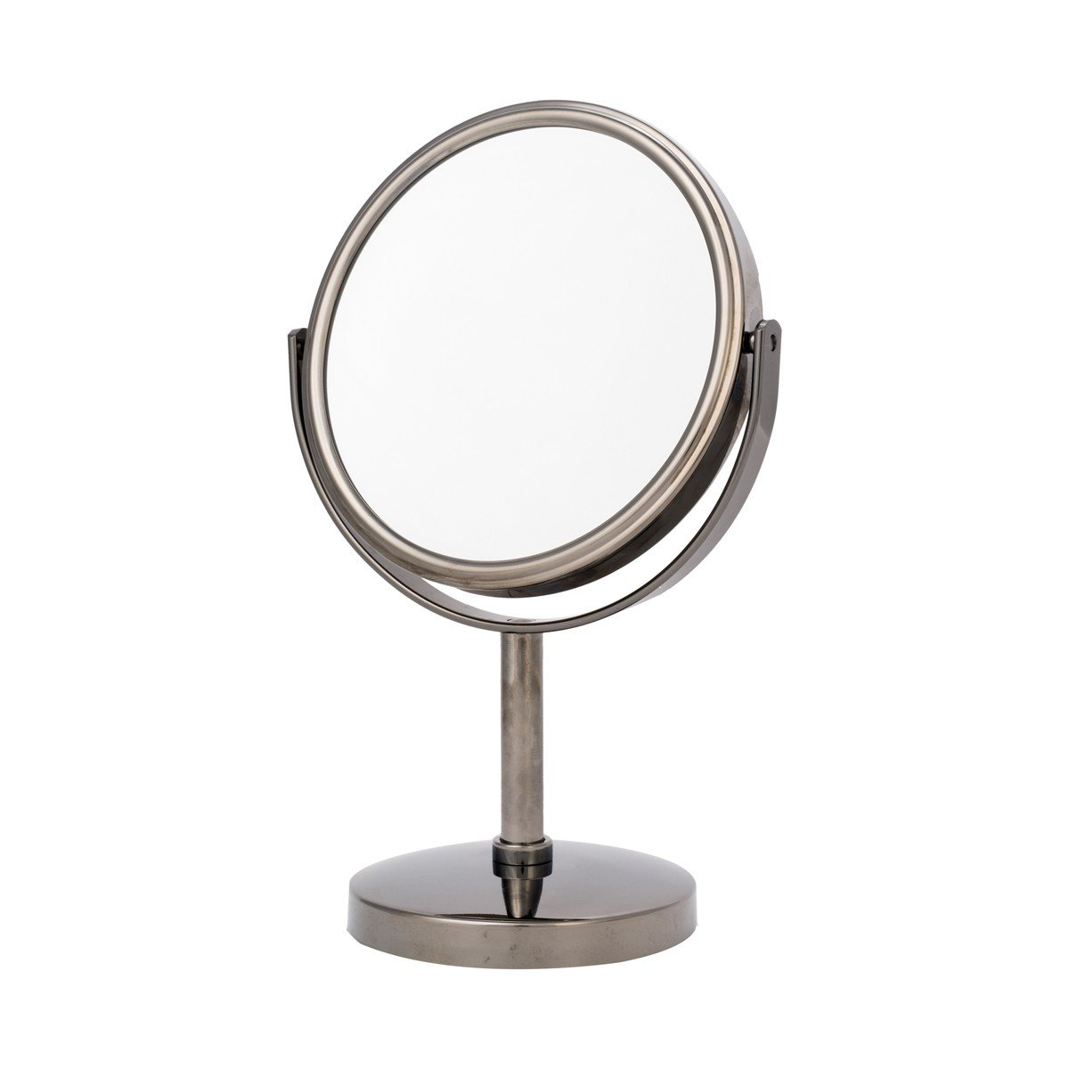 Danielle Two-Sided 5X Magnification Round Vanity Mirror Brushed Gold Upper Canada Soap D651BG