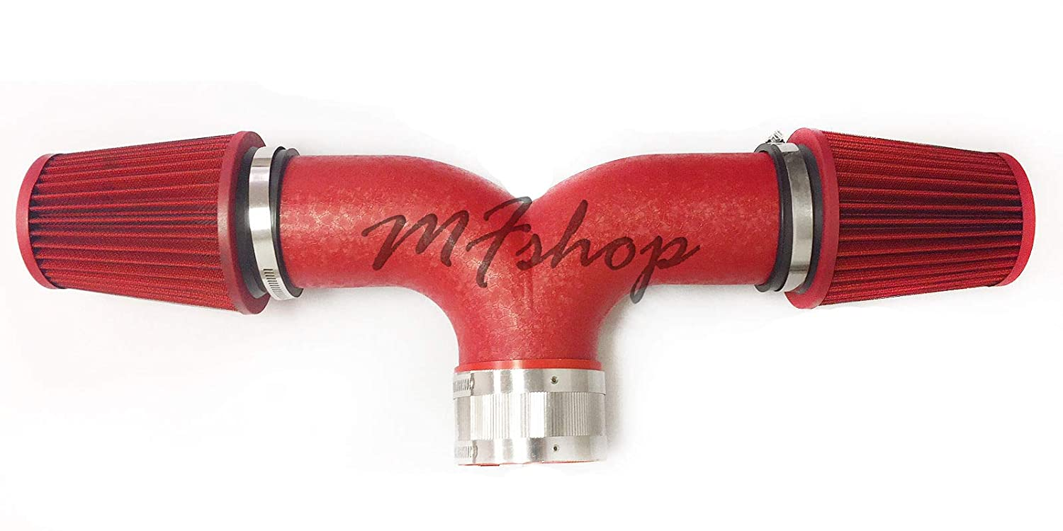 Filter Dual 1997-2000 Chevy Corvette C5 5.7L V8 Twin Air Intake Kit Red Coated