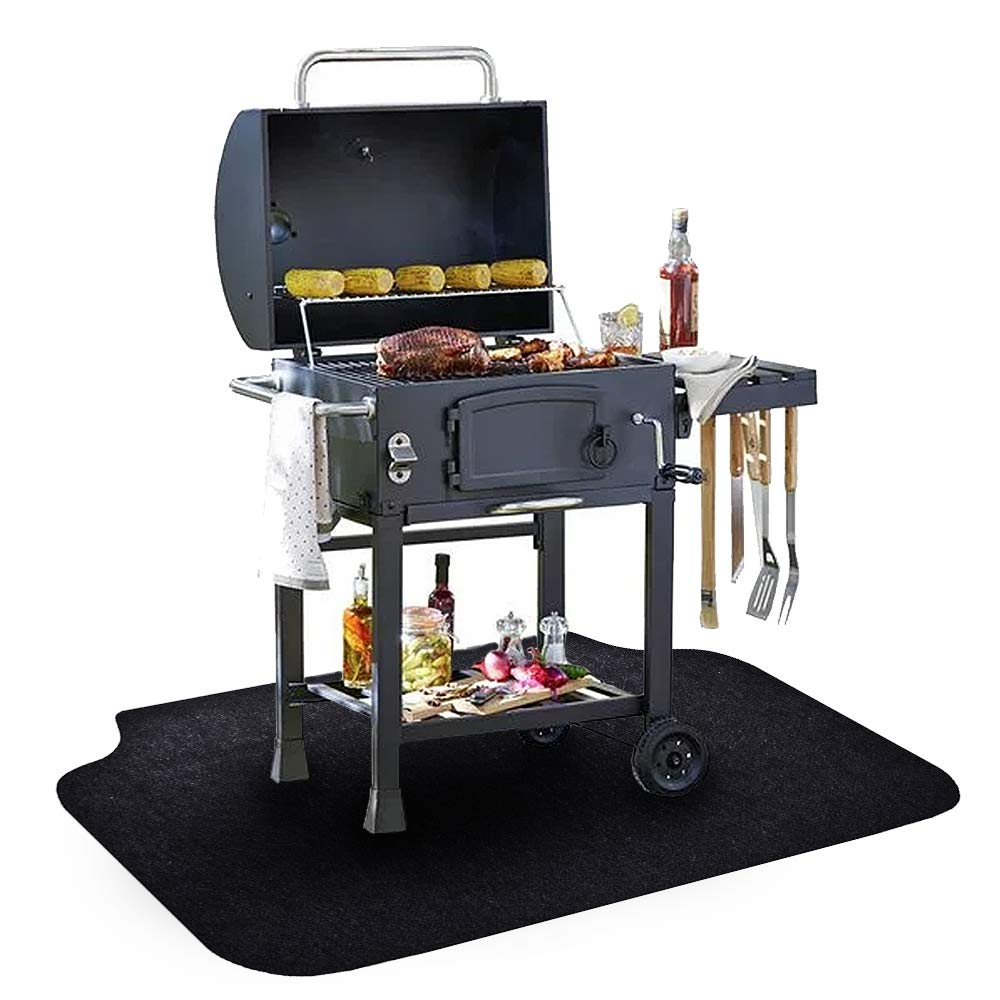 Under The Grill Mat, (36 x 60 inches) ,BBQ Grilling Gear Gas Electric Grill – Use This Absorbent Grill Pad Floor Mat to Protect Decks Patios from Grease Splatter and Other Messes