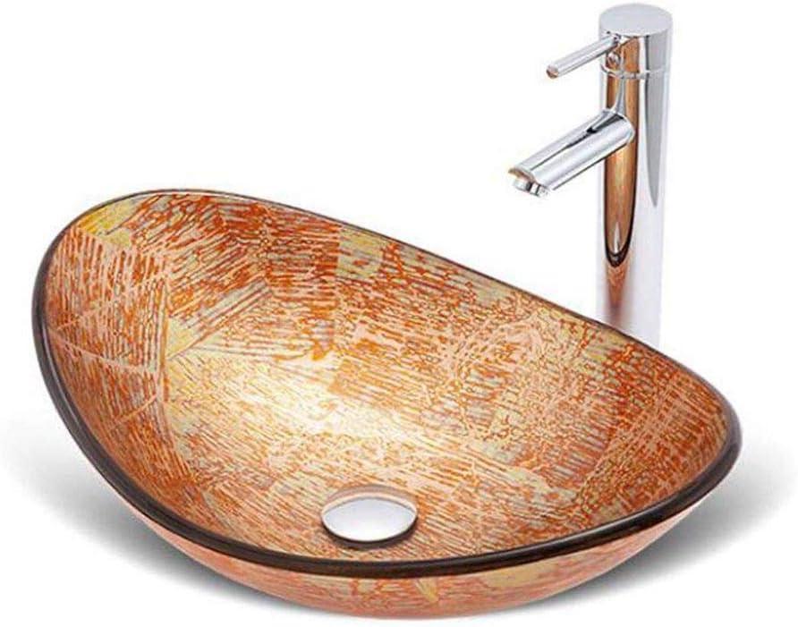 バスルームのシンク、強化ガラス近代カウンターシンクアートの上カウンター盆地洗面台、バスルーム、ダイニングルーム、屋外