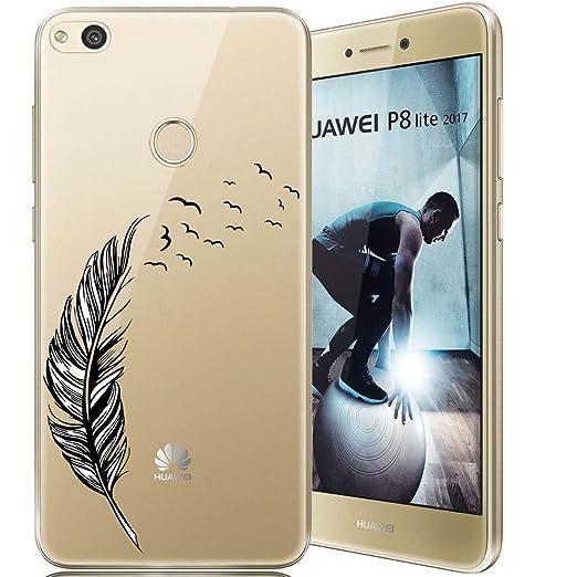 37 opinioni per Huawei P8 Lite 2017 Custodia, ocketcase® Morbido Flessibile TPU Gel Silicone